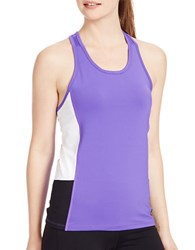Lauren Ralph Lauren Colorblock Stretch Tank Purple