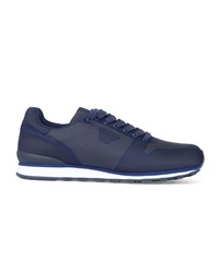 Armani Jeans Navy Thermofused Printed Running Shoes Blue