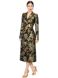Dolce And Gabbana Double Breasted Brocade Organza Coat
