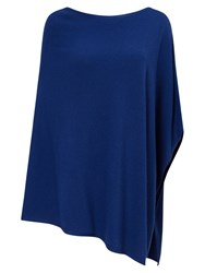 East Merino Wool Knitted Poncho Sapphire