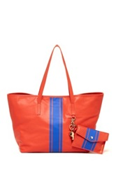 Cynthia Rowley Hayden Leather Tote Orange