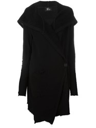 Lost And Found Hooded Cardi Coat Black