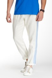 Parke And Ronen Ravello Linen Track Pant White