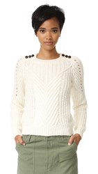 Scotch And Soda Maison Scotch Cable Sweater Off White