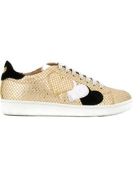 Twin Set Lace Up Sneakers Metallic