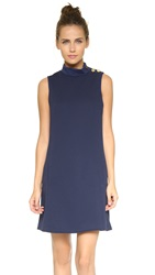 4.Collective Mod Turtleneck Dress Blue