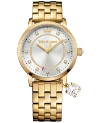 Juicy Couture Women's Socialite Gold Tone Stainless Steel Bracelet Watch With Charm 36Mm 1901475