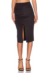 Twin Sister Bodycon Pencil Skirt Black