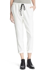 Atm Anthony Thomas Melillo Women's Drawstring Crop Pants White
