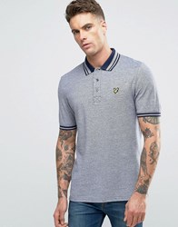 Lyle And Scott Oxford Pique Polo Eagle Logo In Navy Navy