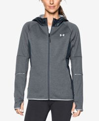 Under Armour Hooded Zip Storm Jacket Stealth Grey Metallic Silver