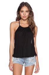 Minkpink After Party Low Back Tank Black