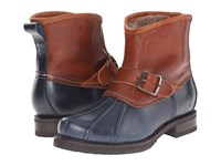 Frye Veronica Duck Engineer Navy Multi Smooth Pull Up Oiled Vintage Women's Pull On Boots Blue