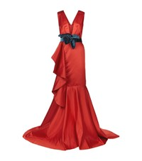 Johanna Ortiz Princess Victoria Belted Dress Female Red
