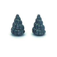 Daniel Darby Jewellery Black Shell Studs