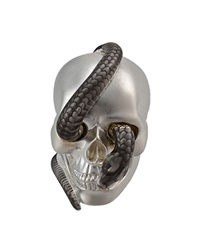 Theo Fennell Two Tone Snake And Skull Ring Gray