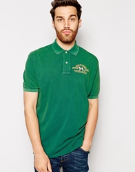 Polo Ralph Lauren Polo Shirt With Dog Embroidery Green