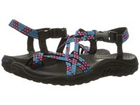 Skechers Reggae Loopy Blue Pink Women's Sandals