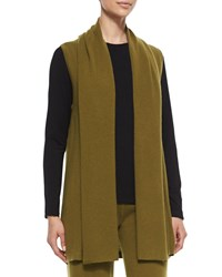 Neiman Marcus Cashmere Collection Cashmere Vest Pants And Jersey T Shirt Set Women's