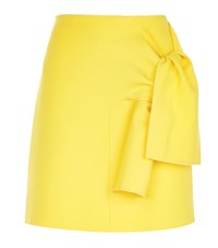 Victoria Victoria Beckham Tie Front Skirt Female Yellow