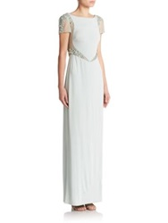 Mignon Embellished Cap Sleeve Gown Light Green
