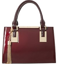 Dune Dinideedee Patent Leather Mini Tote Berry Patent