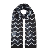 Eskandar Hand Dyed Shibori Silk Scarf Female Black