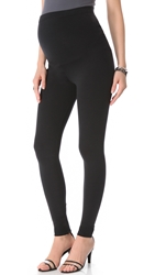 David Lerner Maternity Zipper Leggings Black