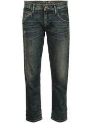 Gold Sign Goldsign 'His Jean' Cropped Jeans Blue