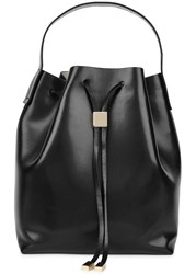 Gvyn Yuri Black Leather Bucket Bag