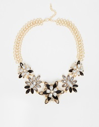 Paper Dolls Flower Statement Necklace Multi