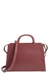 Matt And Nat 'Portia' Vegan Leather Satchel Burgundy Cerise