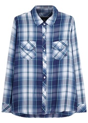 Rails Carmen Blue Plaid Shirt Navy