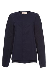 Marni Long Sleeve Pocket Jacket Royal Blue