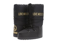 Love Moschino Logo Moon Boot Black Women's Boots