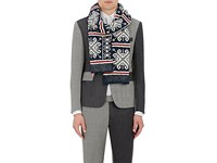 Thom Browne Men's Fair Isle Scarf Navy Red White Navy Red White
