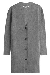 Mcq By Alexander Mcqueen Wool Cashmere Cardigan Grey