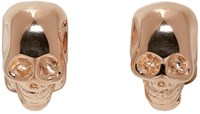 Givenchy Rose Gold Double Skull Earrings