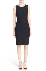 Women's St. John Collection 'Midnight' Metallic Knit Sheath Dress