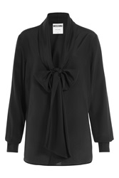 Moschino Silk Blouse With Pussy Bow Black