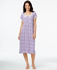 Eileen West Cap Sleeve Nightgown Plum