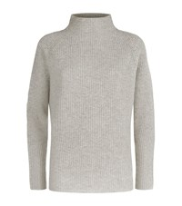 Polo Ralph Lauren Ribbed Wool Cashmere Sweater Female Brown