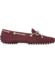 Tod's Bow Loafer Shoes Pink And Purple