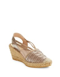 Vidorreta Logan Espadrille Wedges Light Brown
