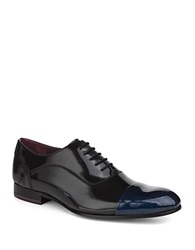 Ted Baker Archeey2 Patent Leather Oxfords Dark Blue