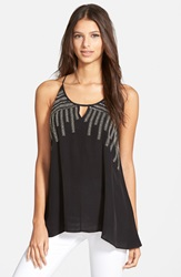 Plenty By Tracy Reese Embellished Racerback Tank Black