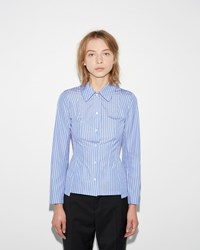 Maison Martin Margiela Striped Popeline Shirt Retro Blue