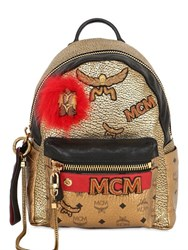 Mcm Small Patched Leather Backpack