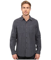 Royal Robbins Bristol Tweed Long Sleeve Shirt Navy Men's Long Sleeve Button Up