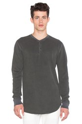 John Elliott Flatback Thermal Henley Gray